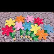 【お花のボタンかけ】