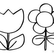 【ぬりえ】お花〜ノーマルバージョン〜