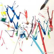 【お絵描き技法】吹き絵〜絵の具の動きがおもしろいお絵描き遊び〜