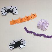 手形の蜘蛛と切り絵