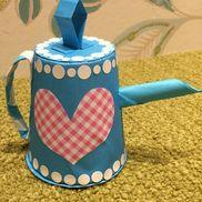 【ティーポット】折り紙おもちゃ⸜(๑⃙⃘'ᵕ'๑⃙⃘)⸝⋆*♡材料♡折り紙のりはさみ両面テープ紙コップ丸シール