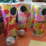 紙コップでこいのぼりけん玉\❤︎/3歳4歳児紙コップ、折り紙、タコ糸、アルミホイル、ニス