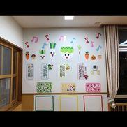 食育★ランチルーム壁面