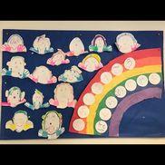 【にじのむこうに 壁画】・4歳児 共同制作・学年末のまとめ