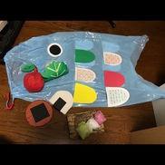 3〜5歳こいのぼりの会でのお楽しみシアターたくさん食べ物があるけれど、こいのぼりは風を食べて元気になるということに気づかせてくれるお楽しみグッズ!