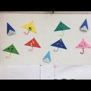 傘折り紙 モール 丸シール