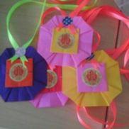がんばりましたメダル☆運動会ごっこをやるのでカラフルなメダルを作りました。