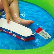 ぼくだけの!わたしだけの!宝船~牛乳パックで簡単手作り水遊びおもちゃ♪〜