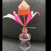 手形で作る花束