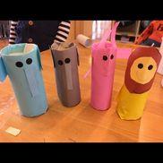 廃材制作 3歳児 【材料】ペーパー芯、折り紙、画用紙、丸シール