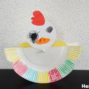 ゆらゆらピョッコリ!にわとりの親子〜紙皿で楽しむ手作りおもちゃ〜