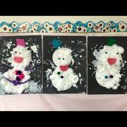 【雪だるま】1歳児、4歳児