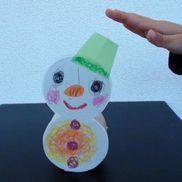 ゆらゆら雪だるま〜動かして楽しむ手作りおもちゃ〜
