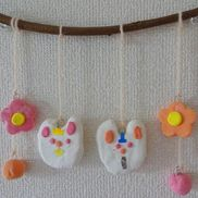 うさぎとお花のつるし雛〜紙粘土で楽しむひな祭り飾り〜