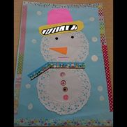 12月の製作(0、1歳児)雪だるま