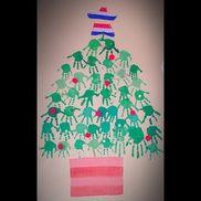 手型アート【クリスマスツリー】
