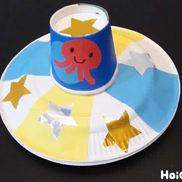 紙皿のUFOフリスビー〜のびのび身体を動かして遊べる製作〜