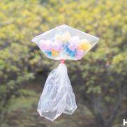 【工作コラム】ビニール袋でふわふわくらげ〜素材/ビニール袋