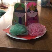 【紙コップと紙皿で雛人形】