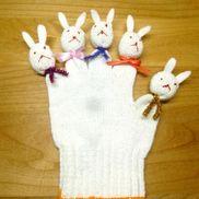 こんにちは!うさぎ指パペット〜室内遊びで大活躍!?の手作りアイテム〜