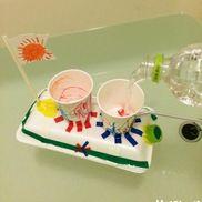 動く!発泡スチロール&紙コップ船〜水遊びにもってこいの手作りおもちゃ〜