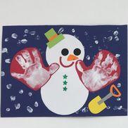 雪だるまの手袋