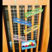 【コロコロボール(0歳児)】・ペットボトル・牛乳パック・ビニールテープ・スズランテープ(結束バンド)・マスキングテープ・ワイヤーネット
