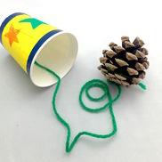 まつぼっくりけん玉〜秋の素材で楽しむ手作りおもちゃ〜