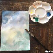 白色クレヨンではじき絵〜浮かび上がる絵がおもしろい製作遊び〜