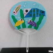 うちわde水族館〜夏にぴったり涼しげ製作遊び〜