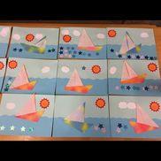 3歳児 折り紙 ヨット⛵