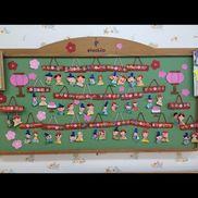 3歳児壁面3月ひな祭り