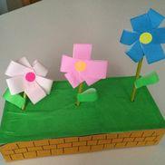 いろどり花だん〜廃材が変身!春にぴったりの製作遊び〜