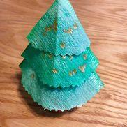 コーヒーフィルターでクリスマスツリー