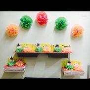 ひなまつり1~2歳児ほいくるを参考に製作しました。少しの間、壁面に飾って そのあとお持ち帰りです。