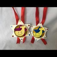 【1.2歳 運動会メダル】紙コップの底を開いて作りました