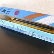 ラップケースdeオリジナル筆箱〜憧れの小学生のお兄さんお姉さんに近づける?製作遊び〜