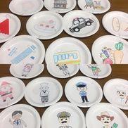 [紙皿シアター]・大きくなったら何になる紙皿、折り紙、ボンド、はさみ