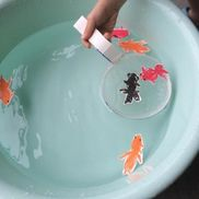 金魚すくいあみ〜牛乳パックで楽しむ金魚すくい〜