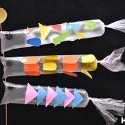 空までとんでけ!こいのぼり〜傘袋で作るこいのぼり製作〜