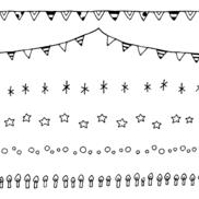 誕生日のイラスト(おたよりラインカット・挿し絵)