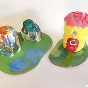 紙粘土の小さなお家〜色も形も自分で作り出して楽しむ製作遊び〜