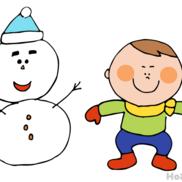 雪だるまの帽子をひょい!〜雪の日にオススメの戸外遊び〜
