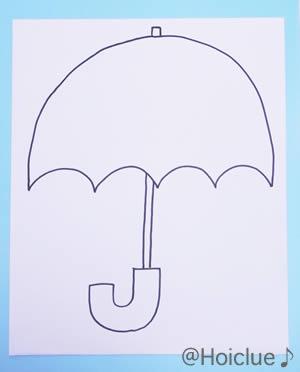 傘の絵のイラスト