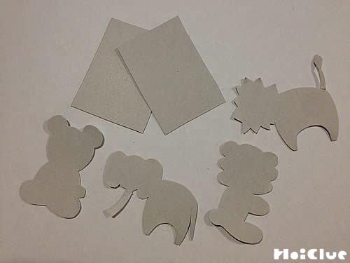 動物の形に切り抜いた写真